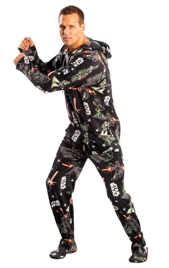 cb27744de Must-Own STAR WARS Adult Footed Pajamas!