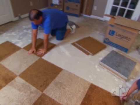 Install Carpet Tiles In A Basement Carpet Installation Carpet