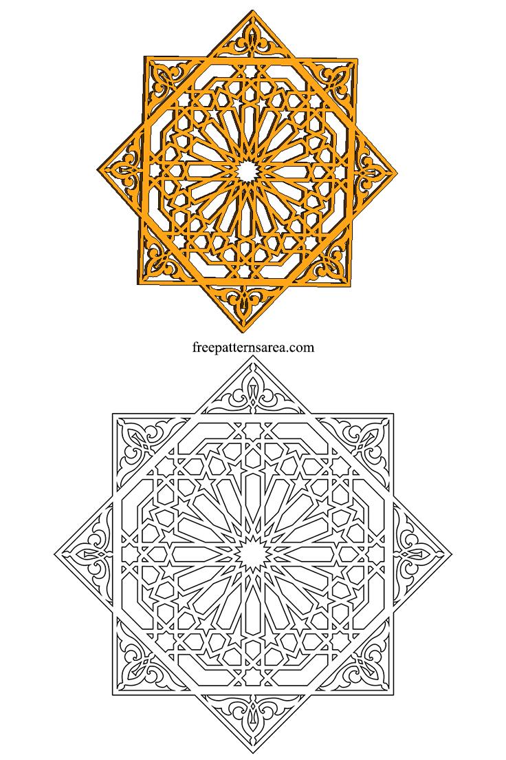 geometric islamic ornament art vector patterns freepatternsarea