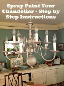 How to revamp your dated chandelier with spray paint diy rhode how to revamp your dated chandelier with spray paint diy aloadofball Images