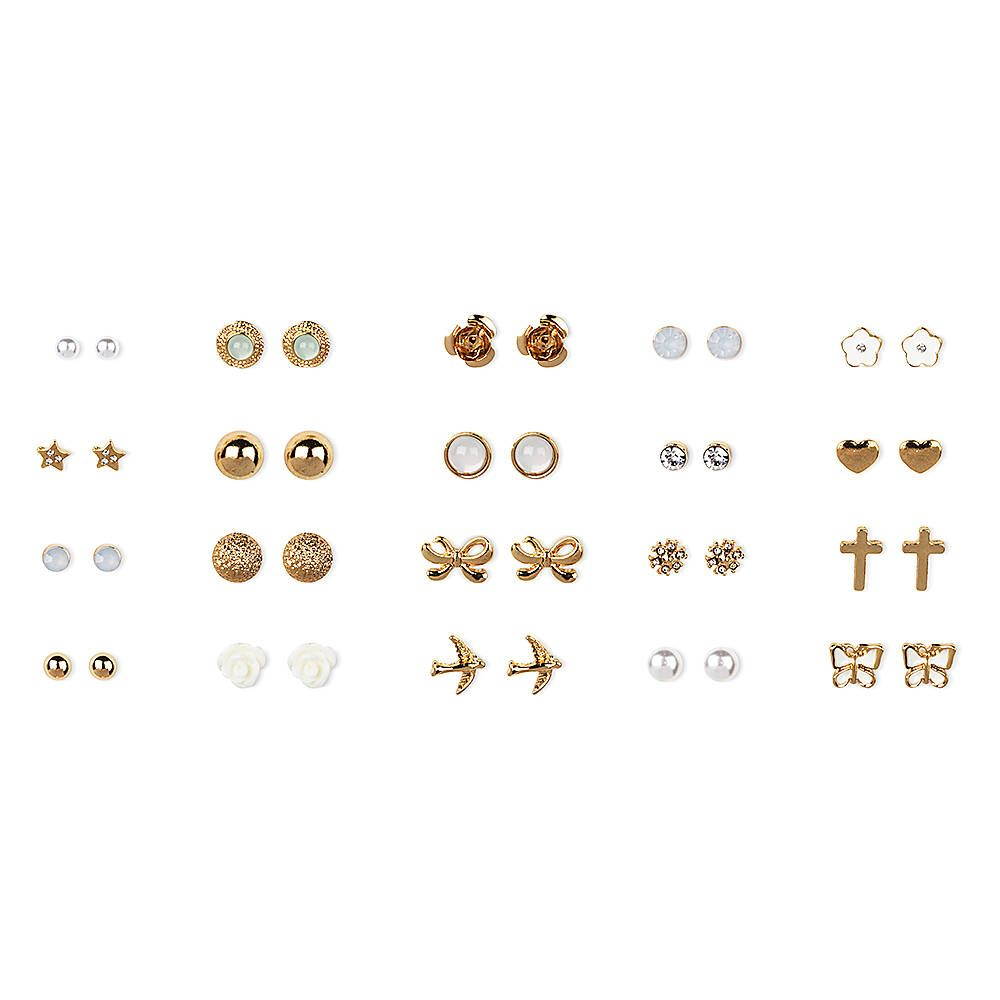 product gold images sara line massive sterling gunn earrings silver stud of plated img products