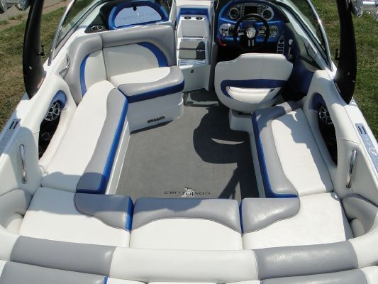 Grey And Black And White Ski Boat Interiors