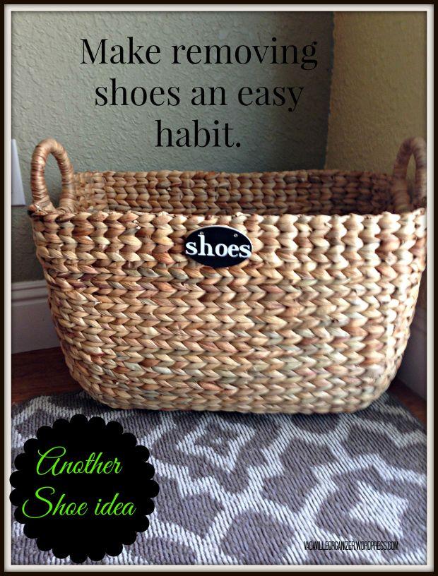 Vacaville Organizer The Blog Shoe Storage Basket Shoe Storage Shoe Basket