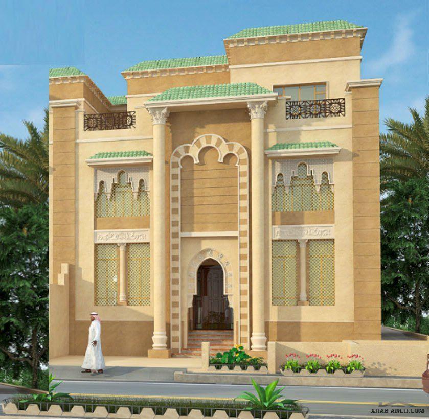 فيلا بالمساقط مسحه الارض 312 متر مربع Modern Architecture Building House Designs Exterior Islamic Architecture