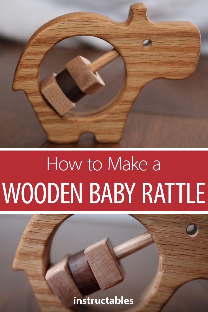 how to make a wooden baby rattle | terrific toys