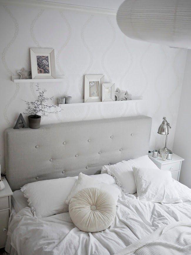 La elegancia de un dormitorio blanco total bedroom for Decoracion de habitaciones de matrimonio en blanco