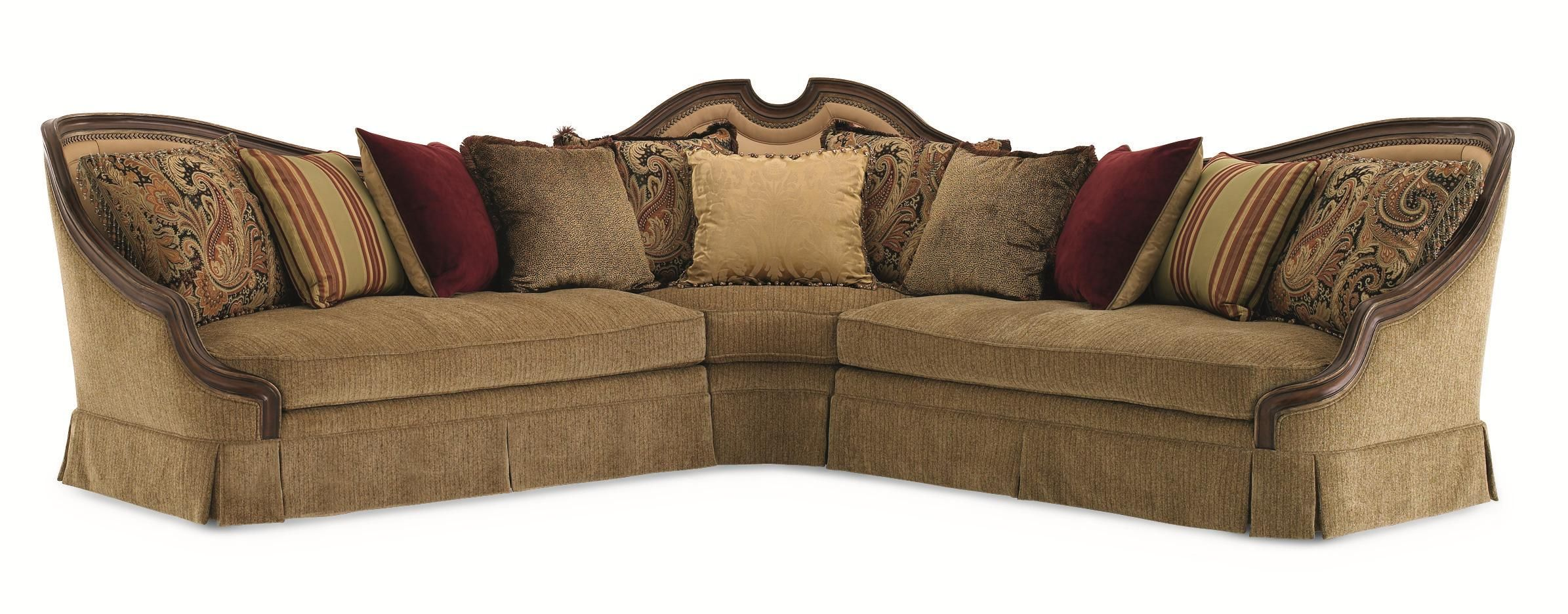 schnadig sofa 9090 brown leather with blue cushions sofas living furniture dining bedroom upholstery