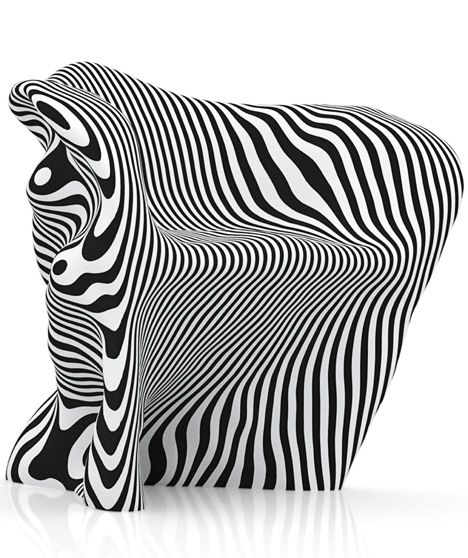 Delightful Paper Chair In Zebra Stripes By Danish Designer Mathias Bengtsson,  Futuristicu2026 Awesome Ideas