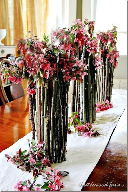 Wood Stick Vase DIY...Quick...Easy...Cost Effective and totally STUNNING!  Get the look...you can do it too.  A must see!
