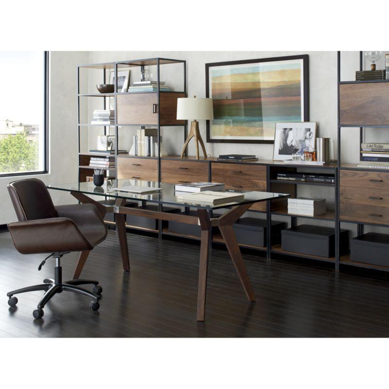 crate and barrel office furniture. Strut Shesham 70\ Crate And Barrel Office Furniture P