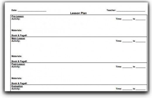Top 10 Lesson Plan Template Forms and Websites Pinterest Lesson