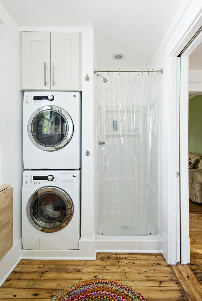 How to Install a Stackable Washer & Dryer in Your Bathroom images