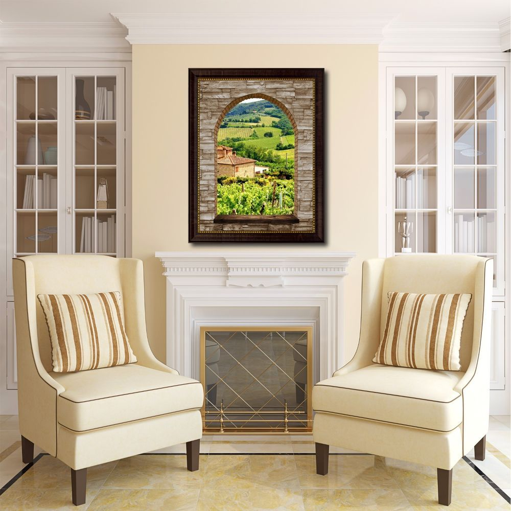 Under window decor  vineyards tuscany italy arch d window home décor gift ideas
