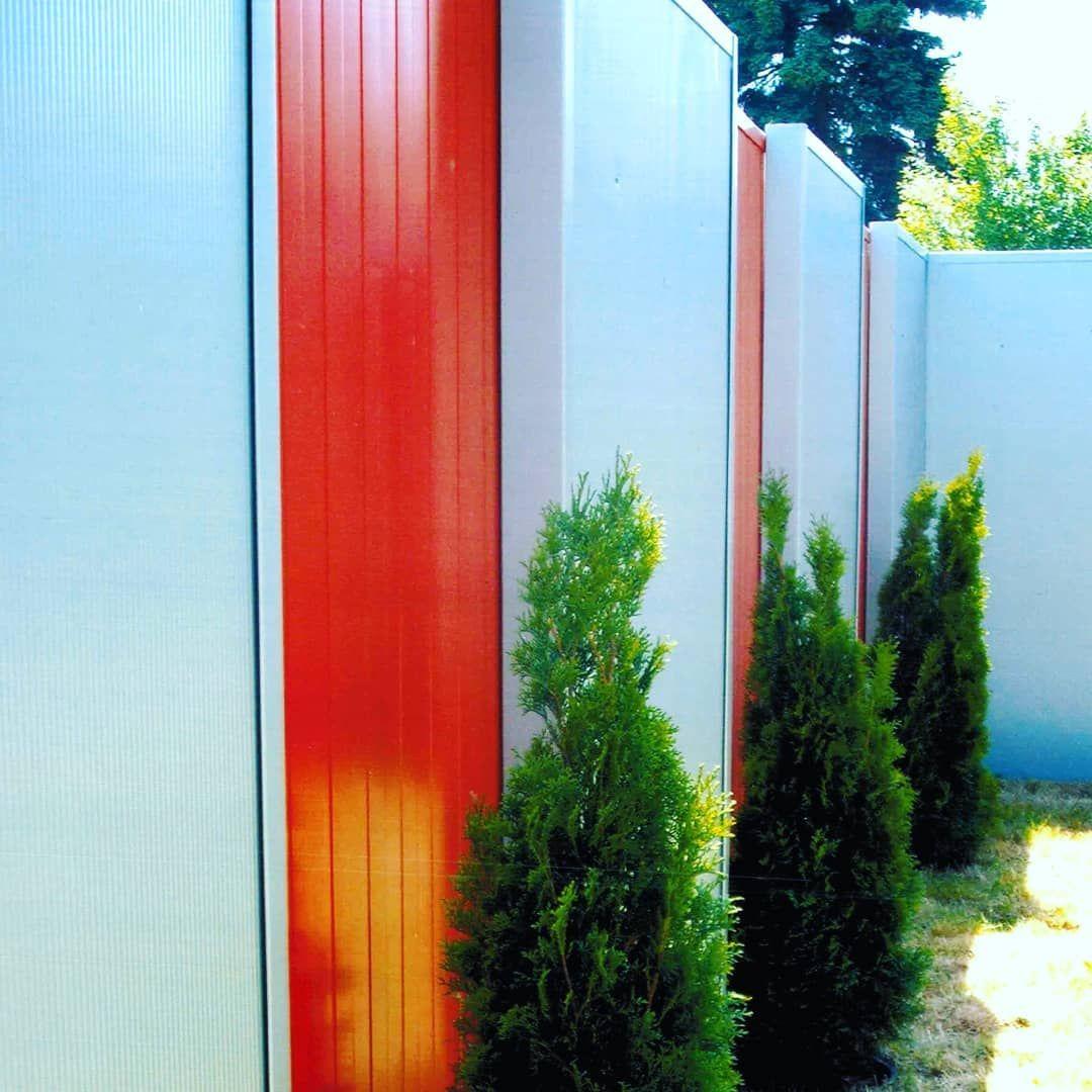 Zweifarbig Uberlappt Sichtschutz Schallschutz Sichtschutzelemente Larmschutz Garten Gartengestaltung Gartenideen Garten Deko Gartenbau Gartengestaltung