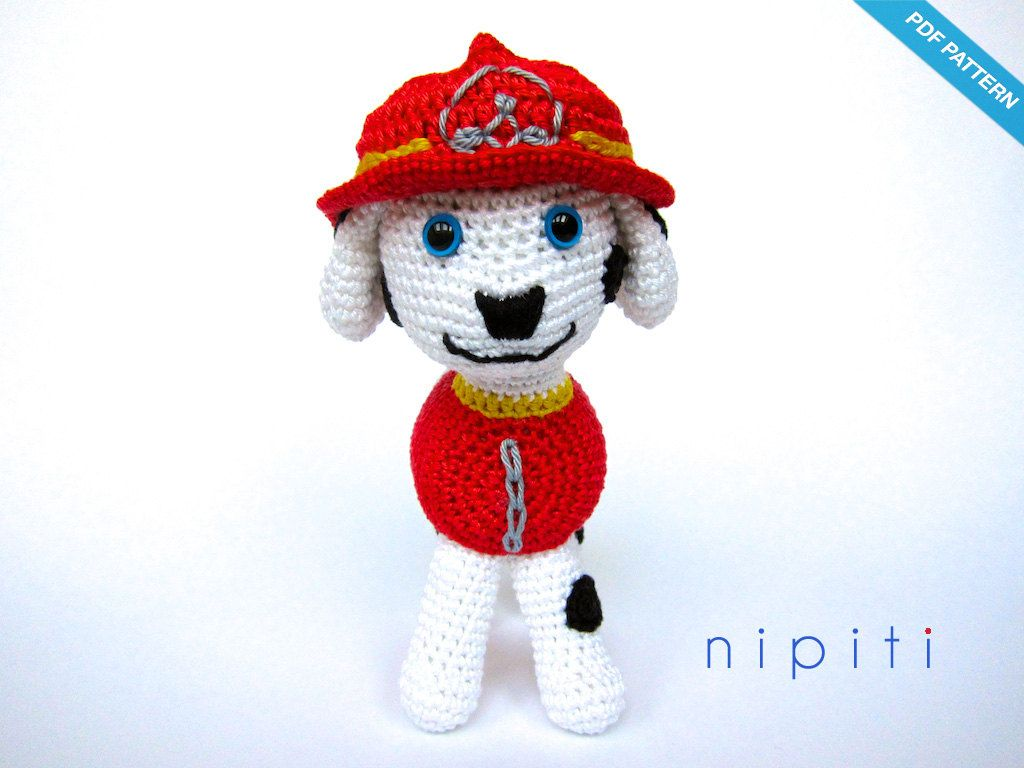 Paw Patrol Toy Pattern PDF Marshall Amigurumi von nipiti   Crochet ...