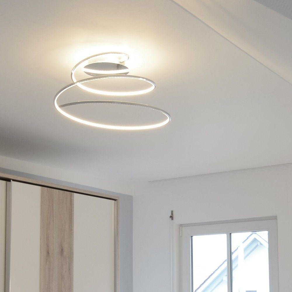 Perfect SKAPETZE Spin LED Deckenlampe spiralf rmig Chrom Innenleuchten Deckenleuchten