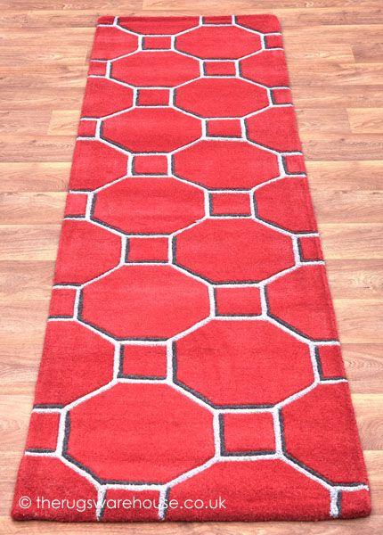 Luxury Red Hallway Runner