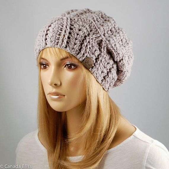 ce0267f6f25ef9 Crochet Cherish Hat Merino Wool Slouchy by CanadaBlissBoutique Saw this  designer on Canada Am this morning and she makes really cute hats!