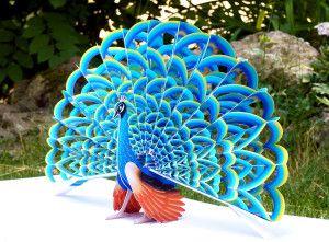 Peter Dahmen Papierdesign ARTE PAPEL Pinterest Peacocks - Elaborate pop paper sculptures peter dahmen