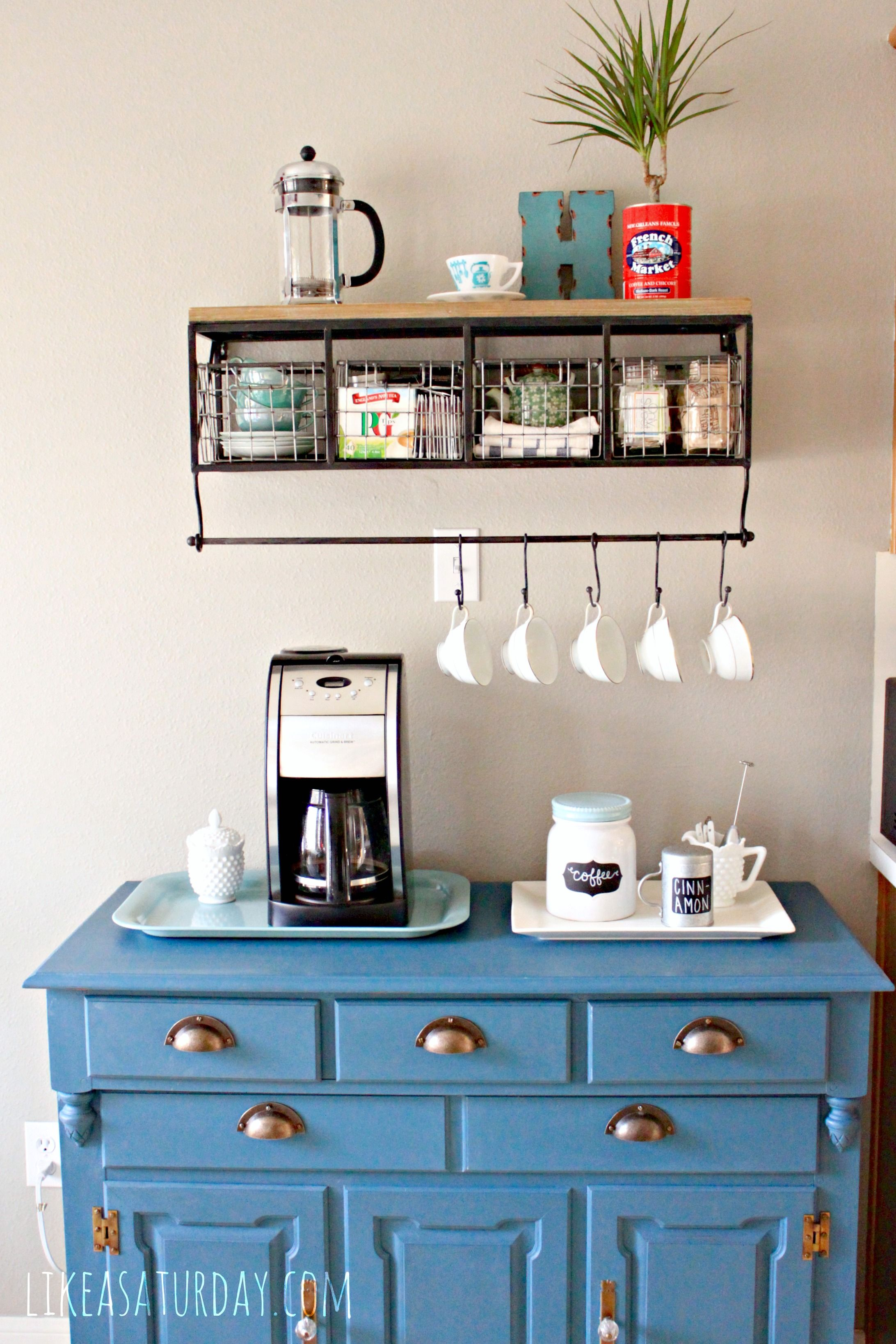 Colorful Farmhouse Industrial Coffee Bar Shelf Hobby Lobby Home