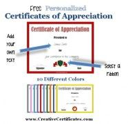 Certificate Of Appreciation Template  Computer    Of