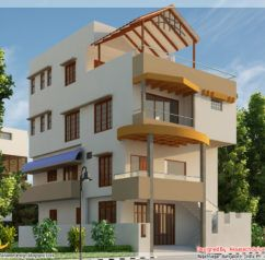 3D Front Elevationcom 1 Kanal Corner Plot 2 House Design