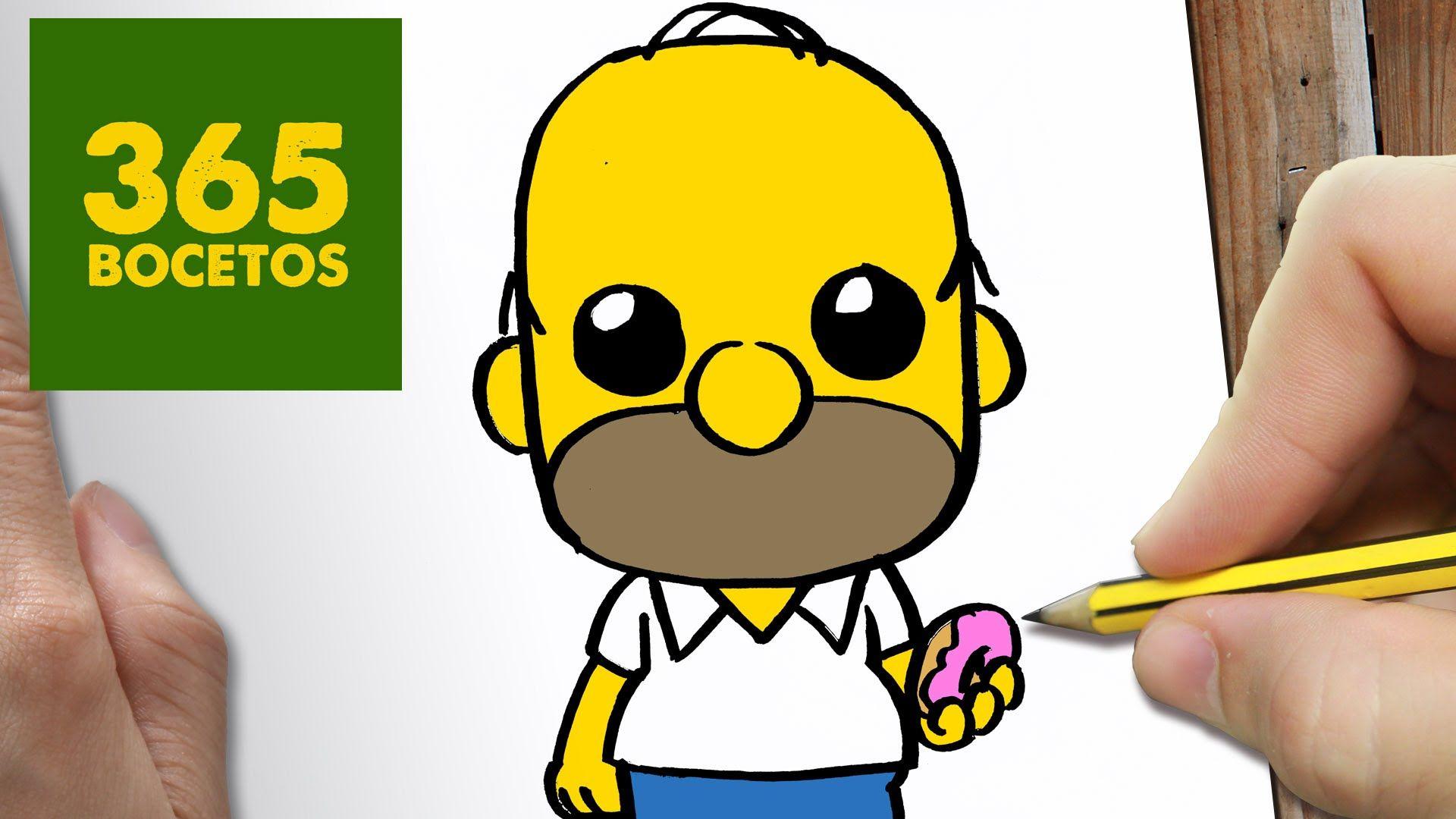 Como Dibujar Homer Kawaii Paso A Paso Dibujos Kawaii Faciles How