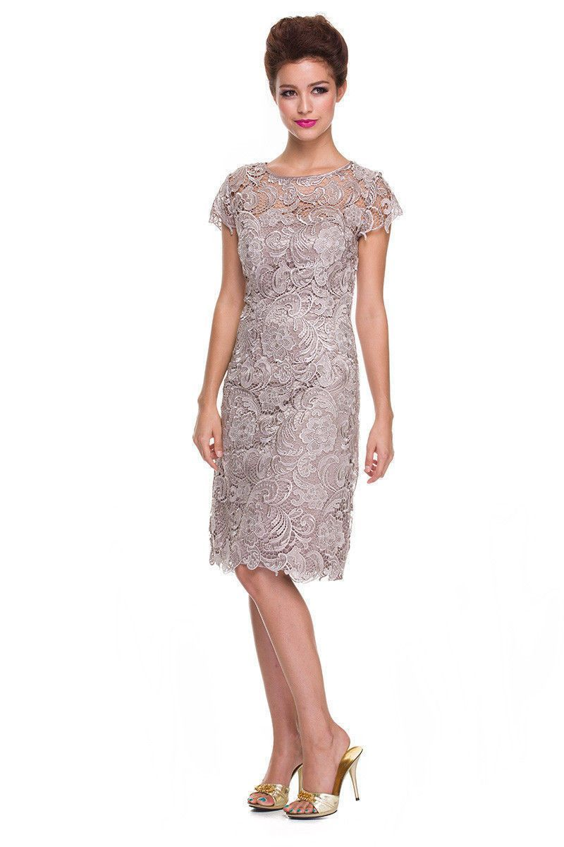 Short lace mother of bride dress calia lilies pinterest