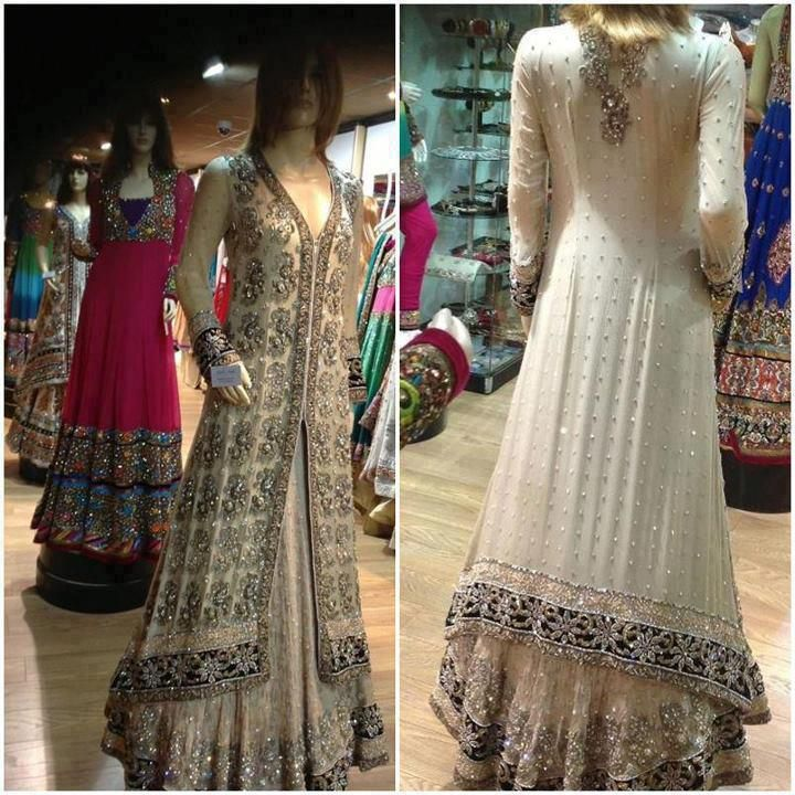 White sharara bridal pakistani dress