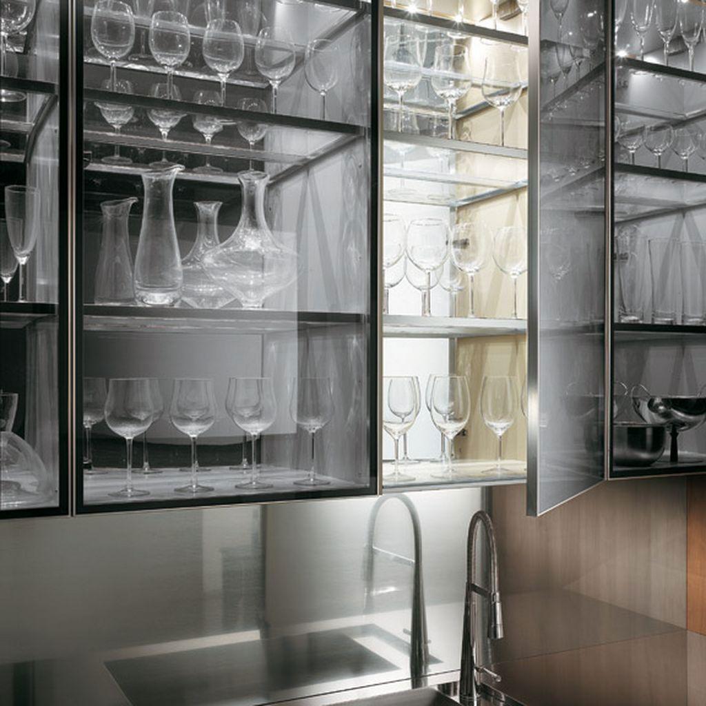 Glass Display Wall Cabinet - Decosee.com | kitchen | Pinterest