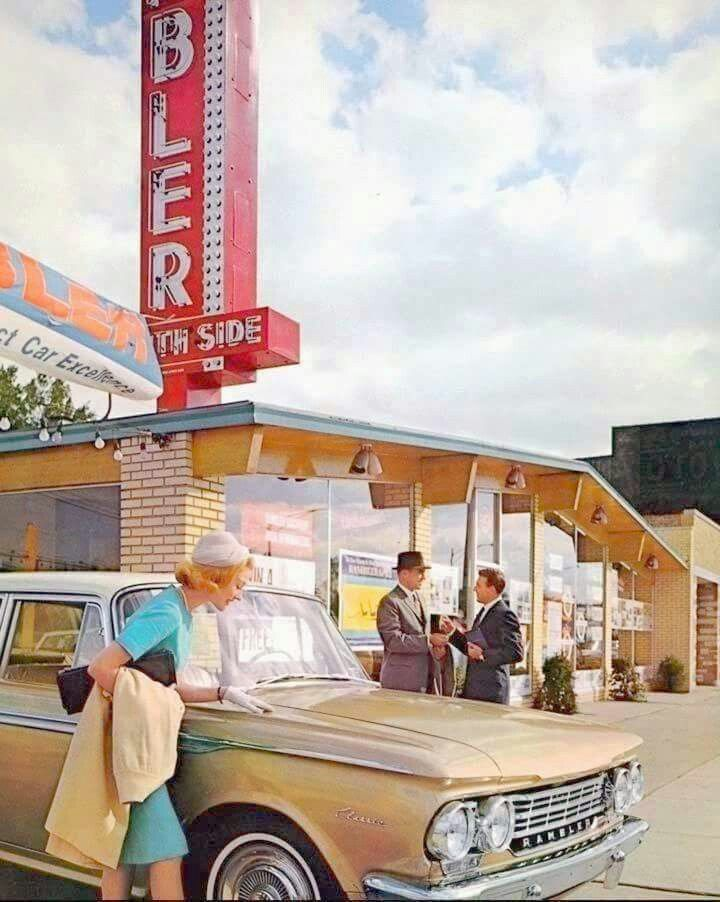 Rambler dealership, Chicago, 1962.   RETRO CARS   Pinterest   Cars