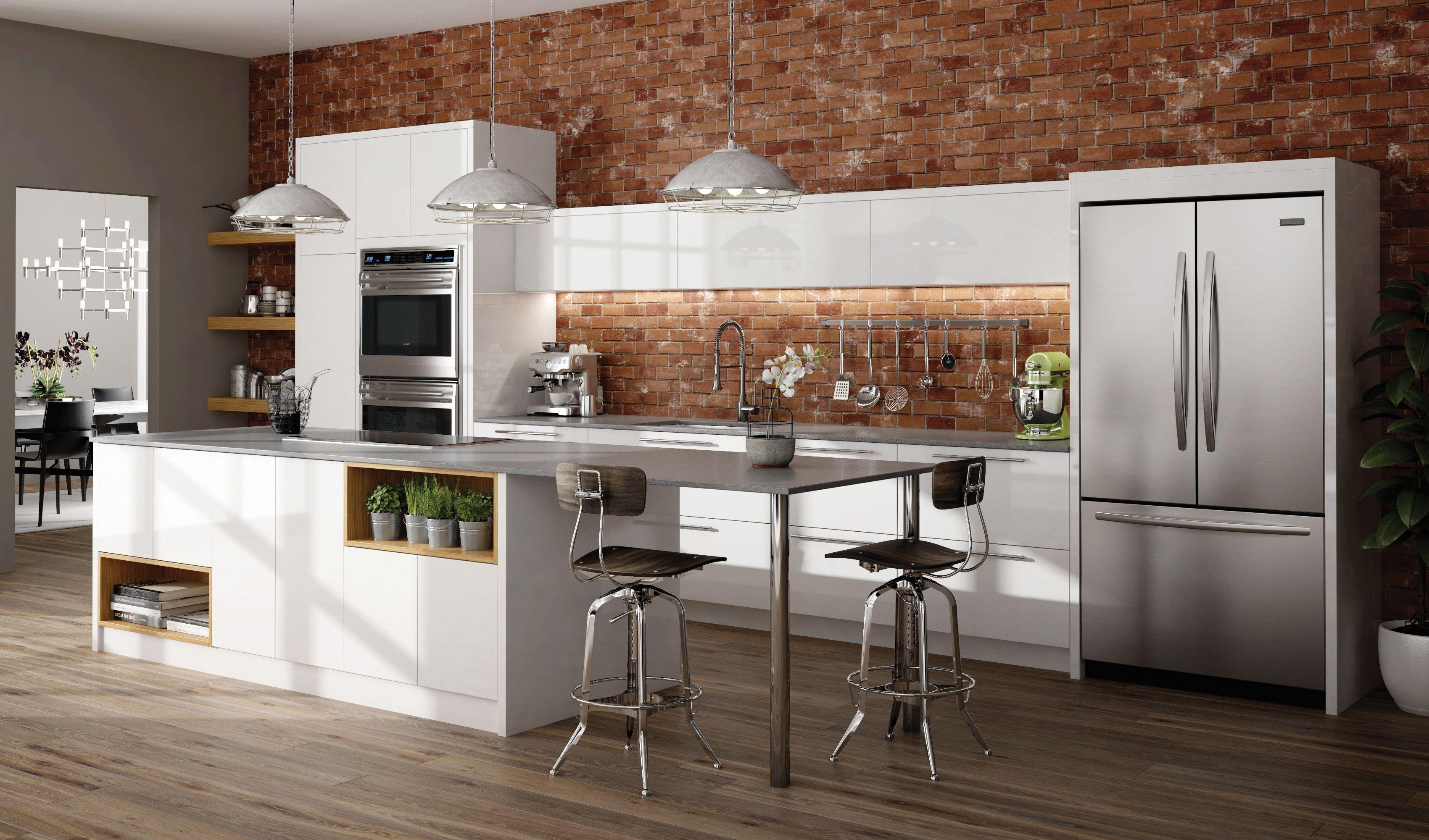 Latitude Cabinets Echo Gloss Laminate Bianco Gloss White Modern Kitchen Order Kitchen Cabinets Pantry Cabinet