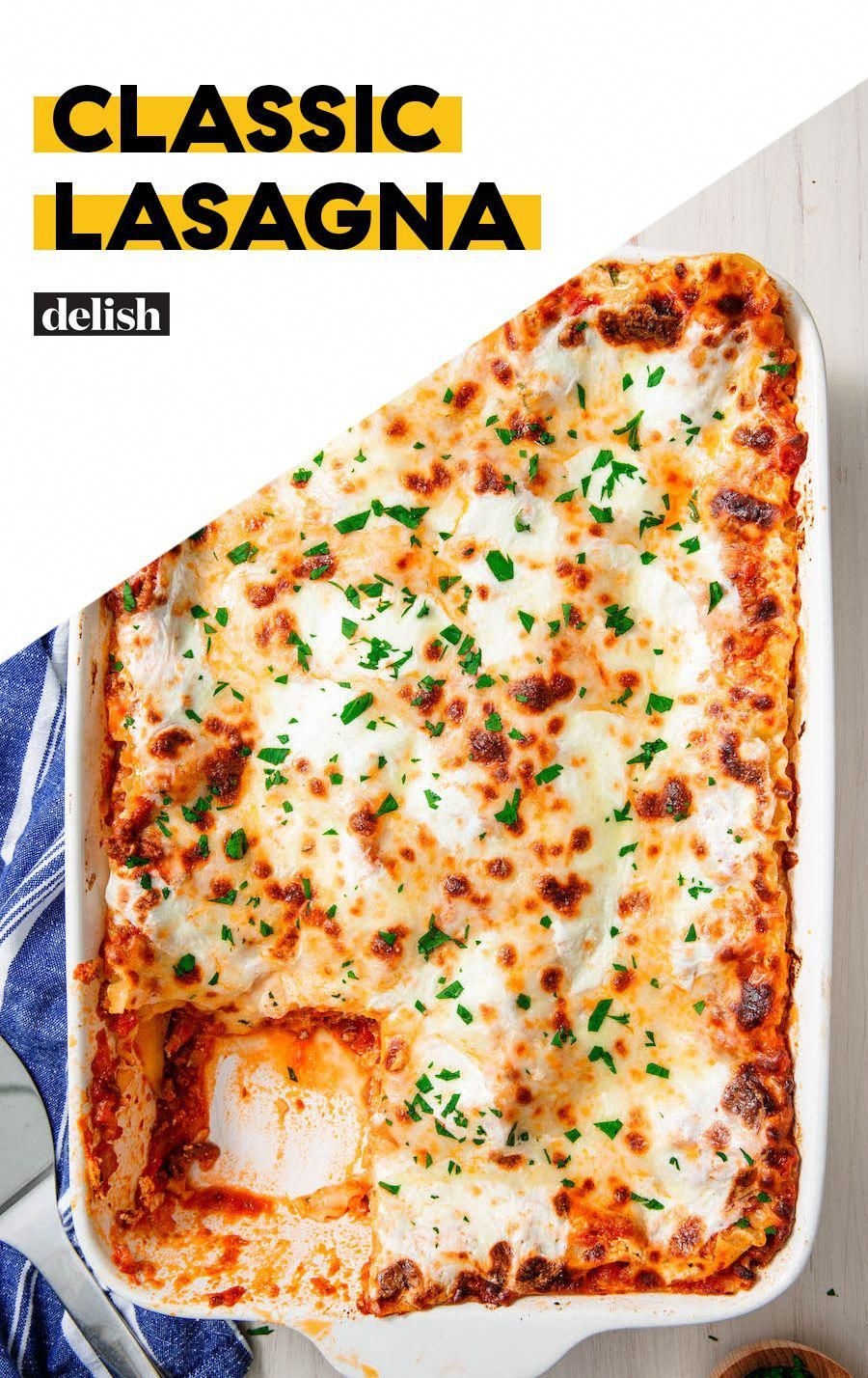 Is there anything more comforting than a plate of warm lasagna?! Get the recipe at .