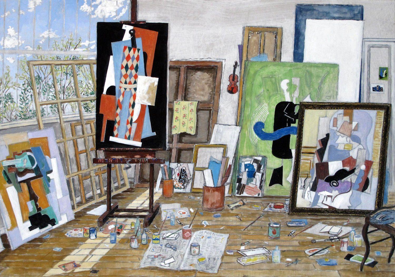 Picasso S Studio Paris 1915 2016 Gouache On Board 19 X