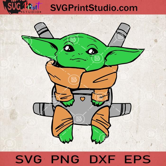 Cute Baby Yoda SVG, Star Wars SVG, Baby Yoda SVG, Cartoon