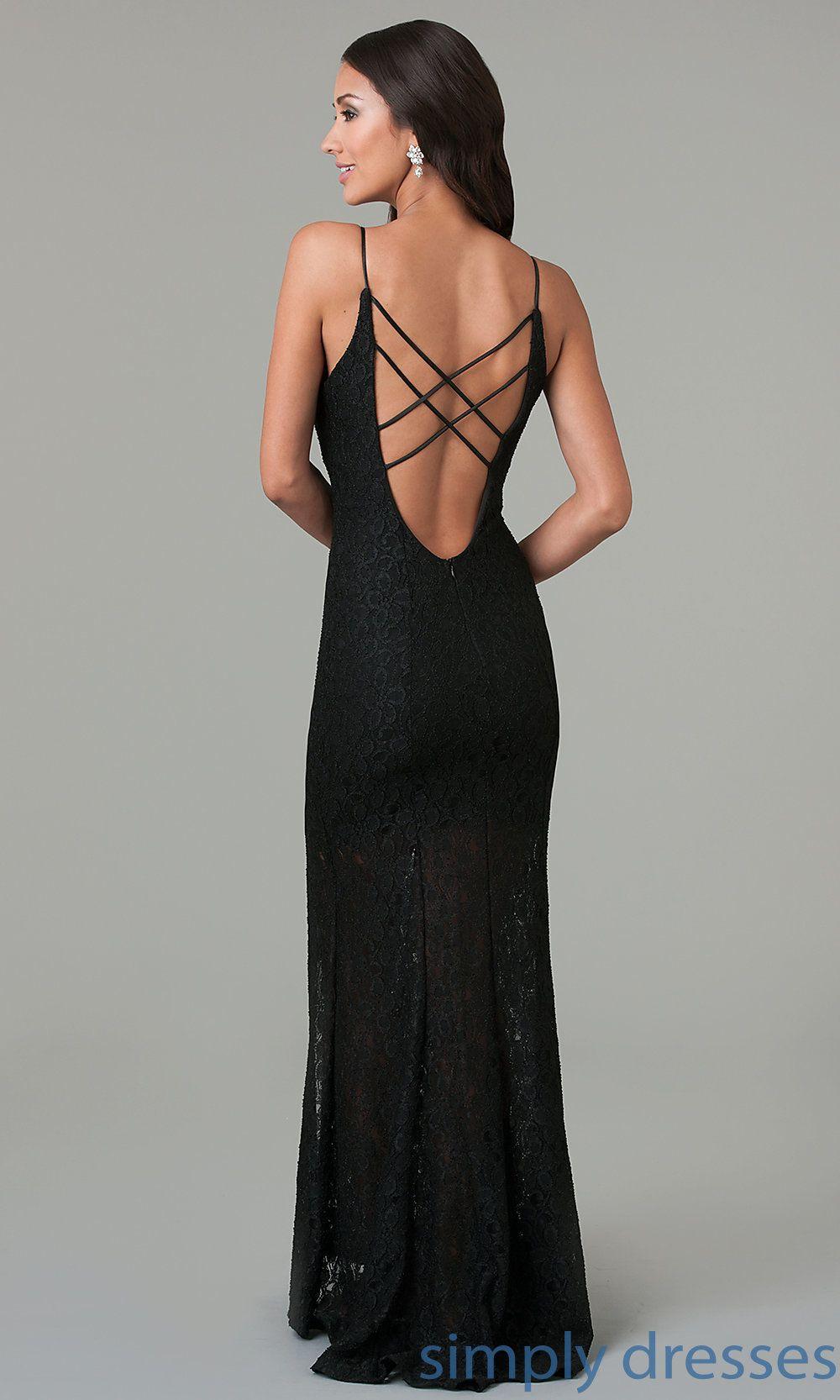 Open Back Black Lace Evening Gown Black Lace Evening Gown Black Lace Evening Dress Dresses [ 1666 x 1000 Pixel ]