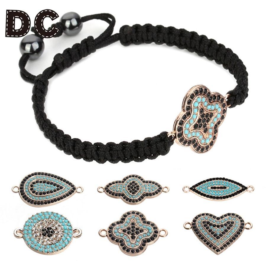 new design cute children evil eyeheart black bracelet girl