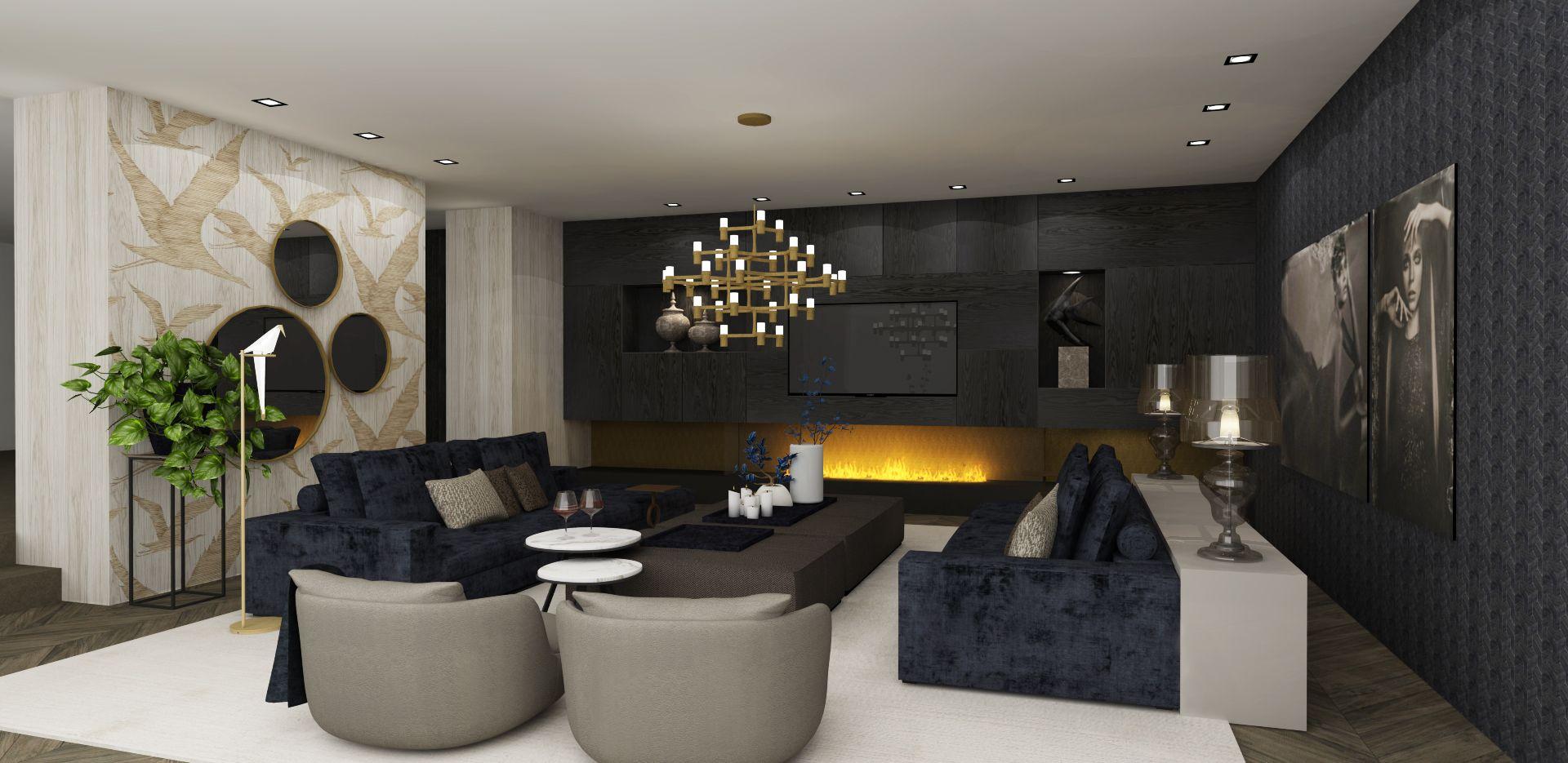 choc studio - modern chic interiors - woonkamer - openhaarden ...