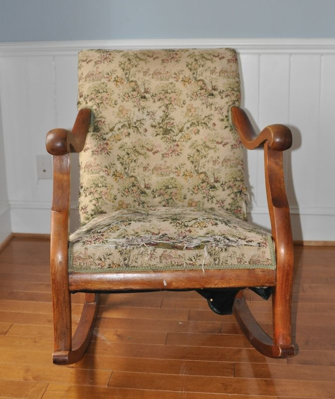 How To Reupholster A Rocking Chair Part 1 Diy Chair