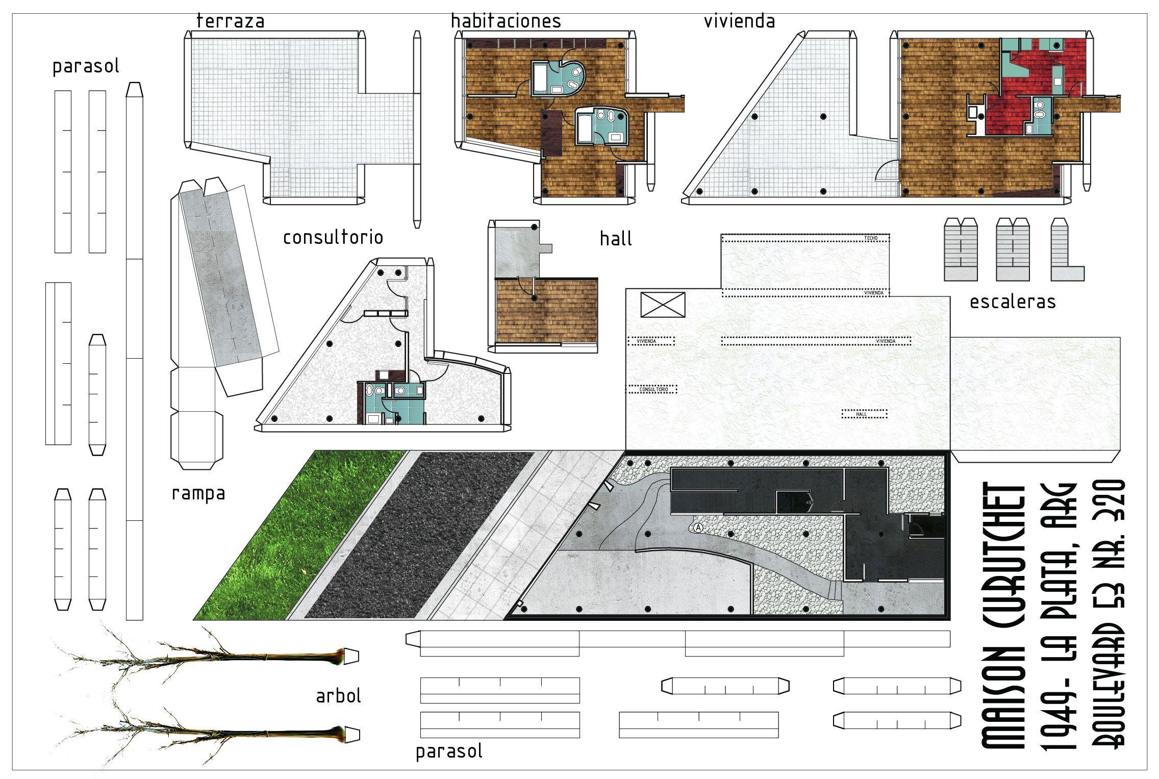 modern house paper model