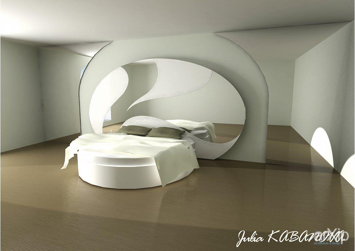 ЭКСКЛЮЗИВНЫЙ ДИЗАЙН КРОВАТИ-ПАННО И СПАЛЬНИ интерьер, назначение - квартира, дом   тип - спальня   площадь - 30 - 50 м2   стиль - современный, модернизм, минимализм. Разместил Julia Kabanova на портале arXip.com