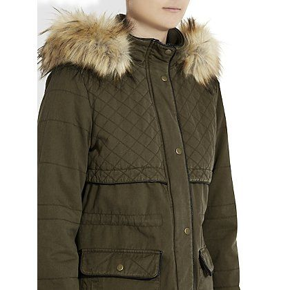 Asda fleece lined parka black