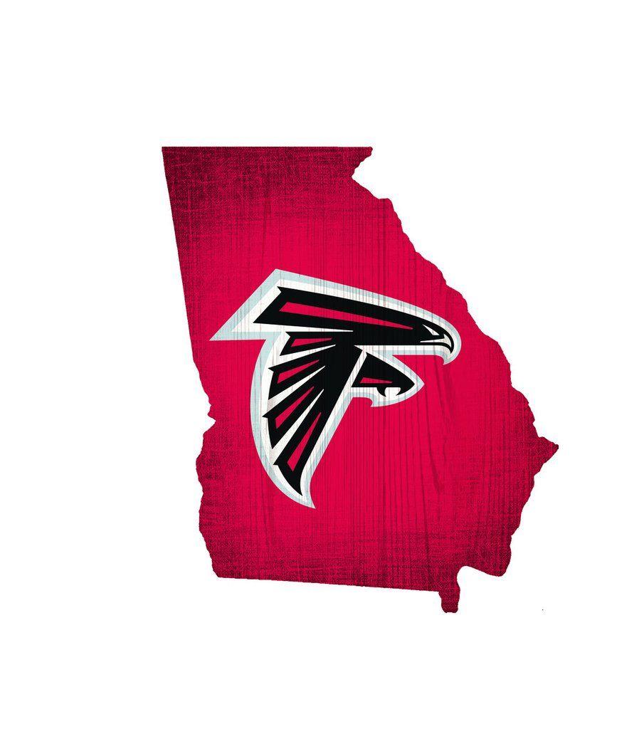 Atlanta Falcons Sign Wood Logo State Design With Images Atlanta Falcons Signs Atlanta Falcons Logo Wood Logo