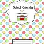 Finding the right calendar is essential for any teacher who wants to stay organized during the school year.  This calendar is formatted to be place...