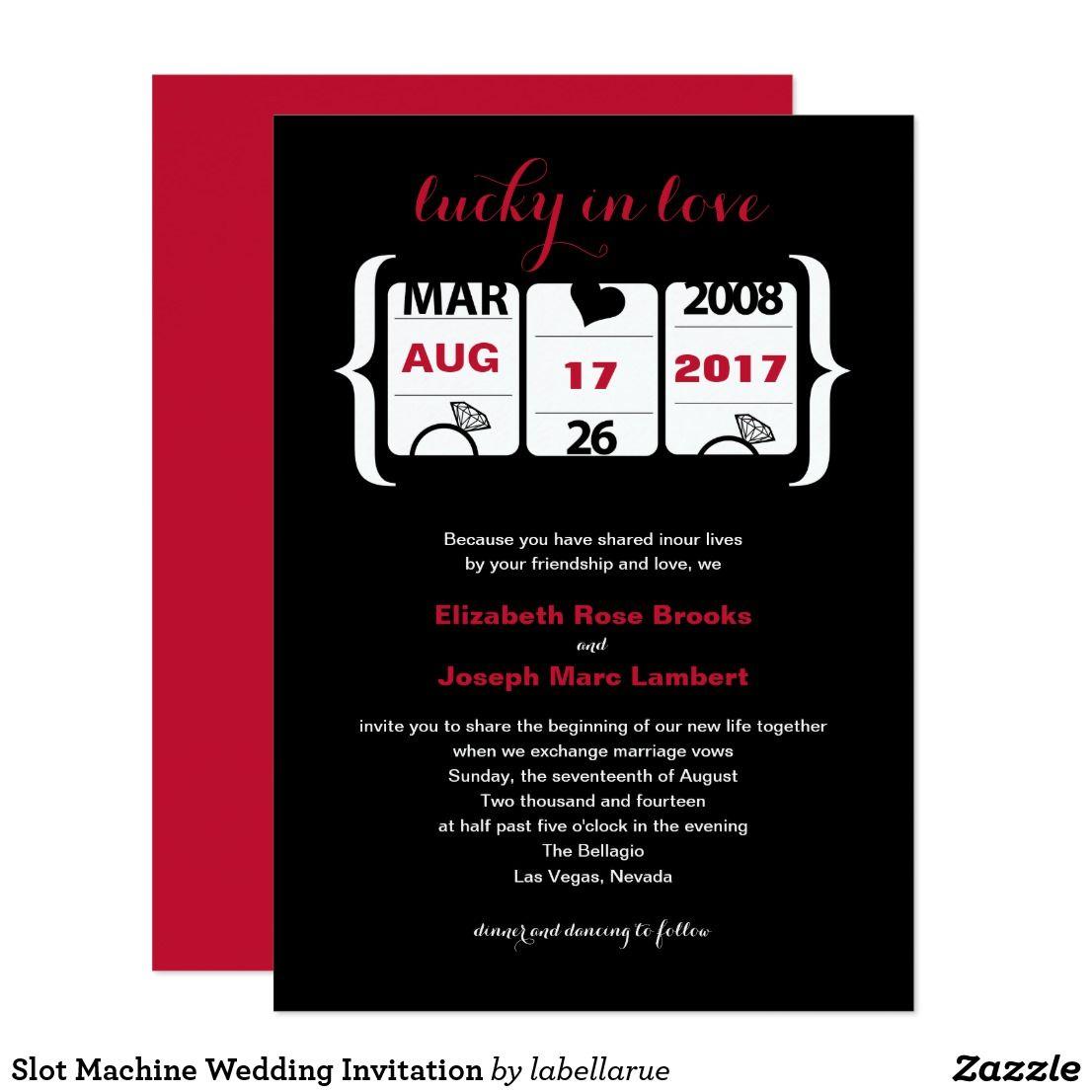 Slot Machine Wedding Invitation | Wedding : Destination | Pinterest ...