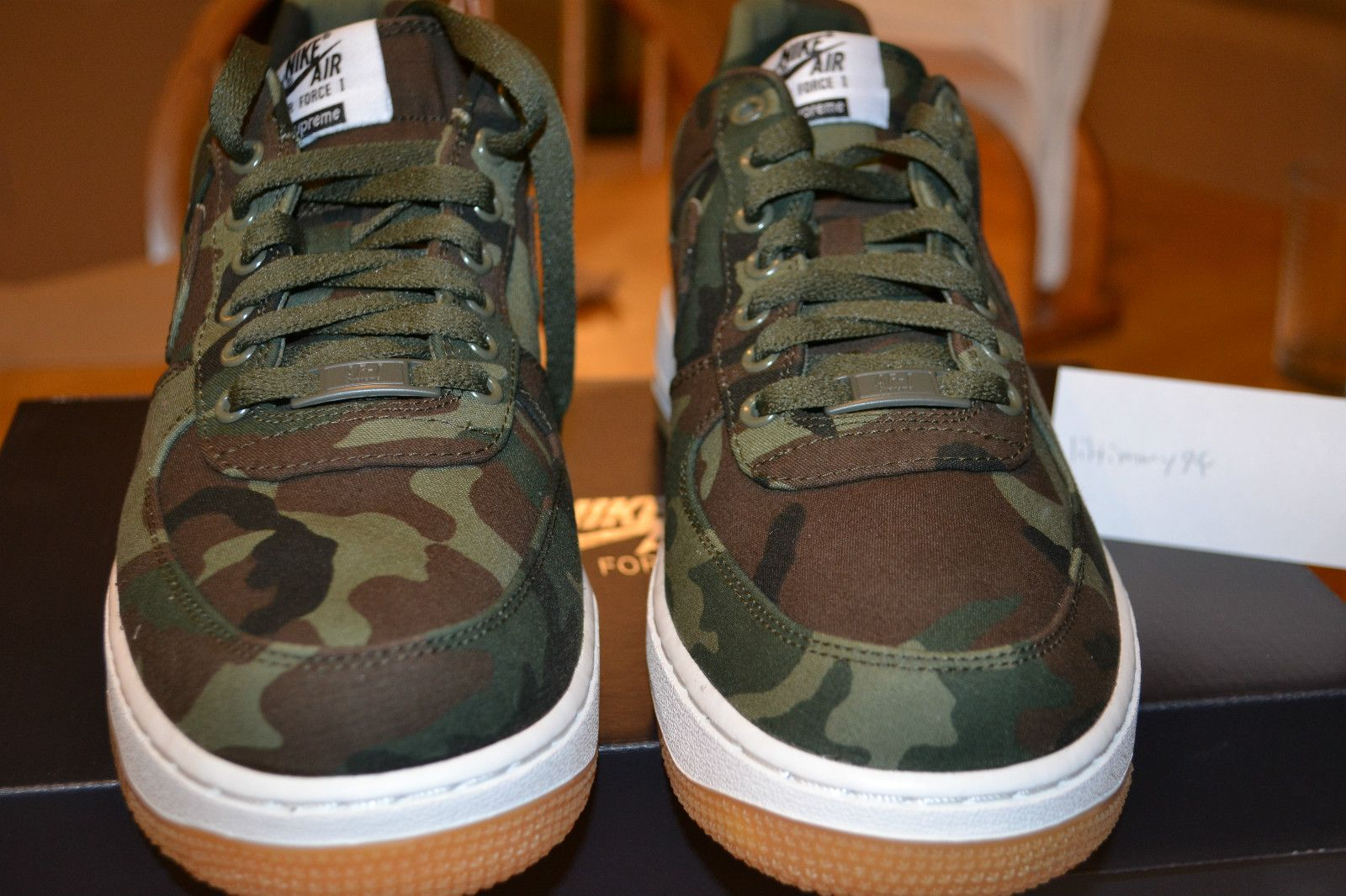 Supreme x Nike Air Force 1, Camo Colorway, Size 9 *Deadstock* #SNEAKERS