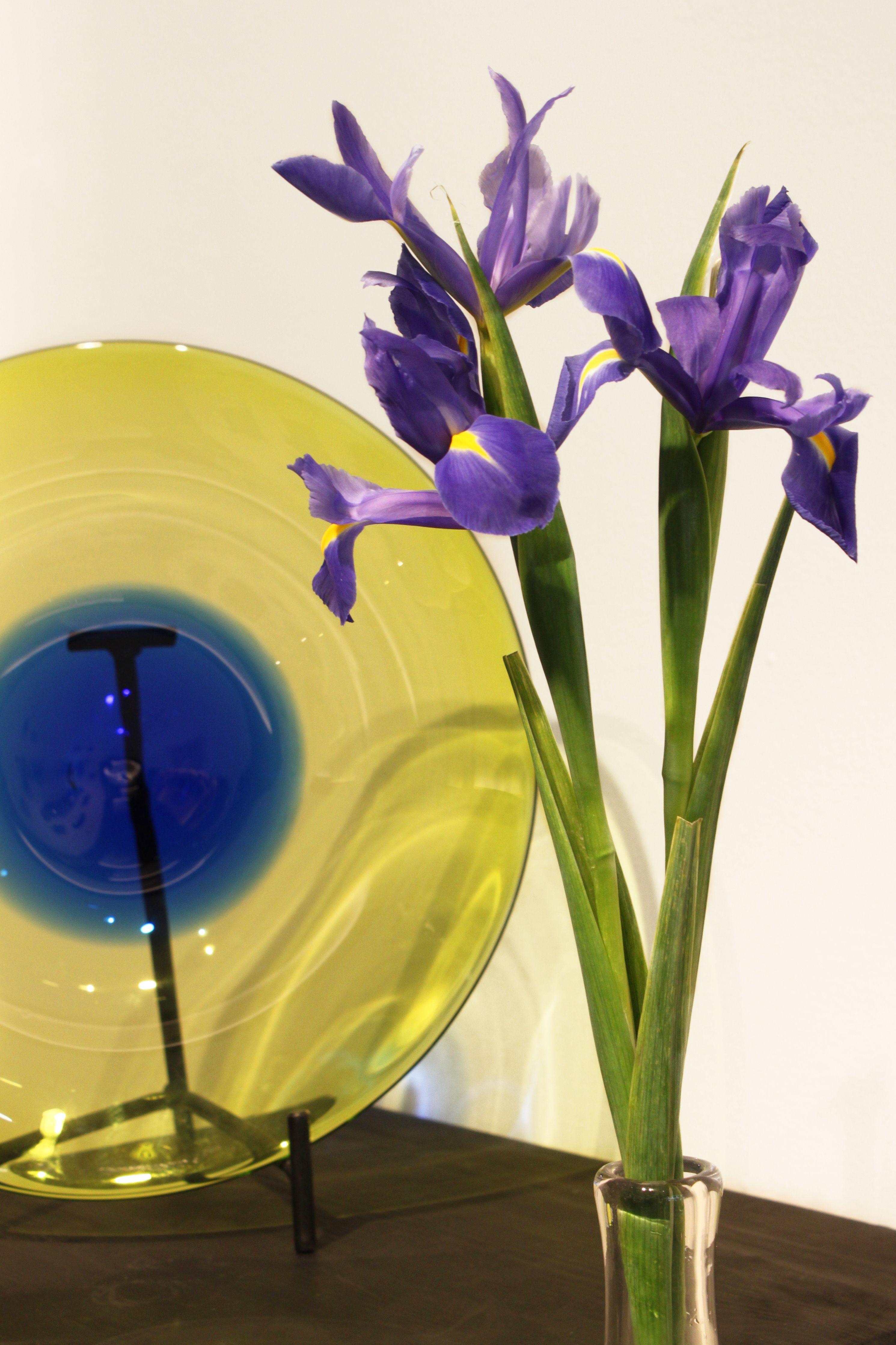 Unique glass plate by glass artist & master glassblower Kari Alakoski.