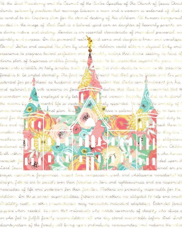 Free Temple Printables: Love this one with the Family Proclamation ...