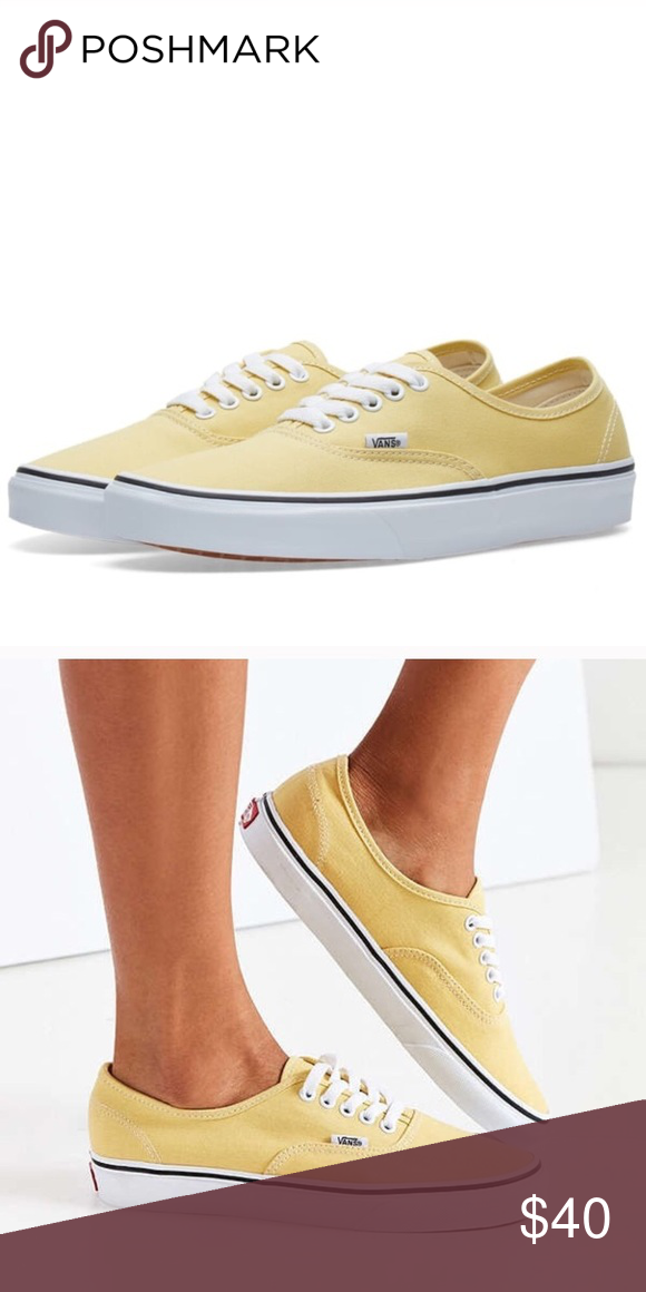 Yellow Vans Nwot Worn For Like 5 Minutes But Otherwise Never Worn