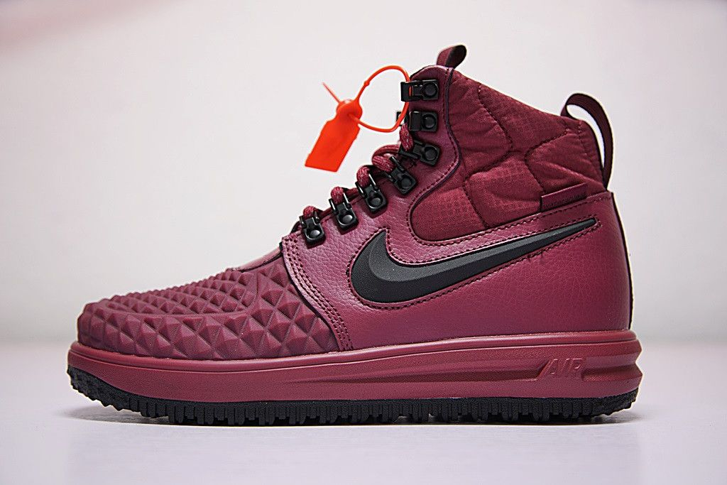 5d790df0330 NIKE LUNAR FORCE 1 DUCKBOOT BORDEAUX BASKETS MONTANTES 916682 601 ...